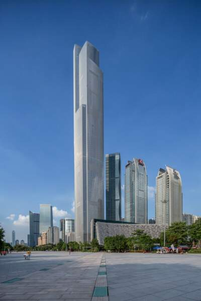 8. Le Centre de Finance CTF en Chine avec 530 mètres de hauteur (2016)