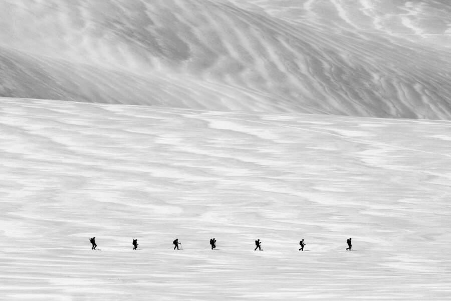 A la queue leu leu dans le massif du Dachstein, en Autriche