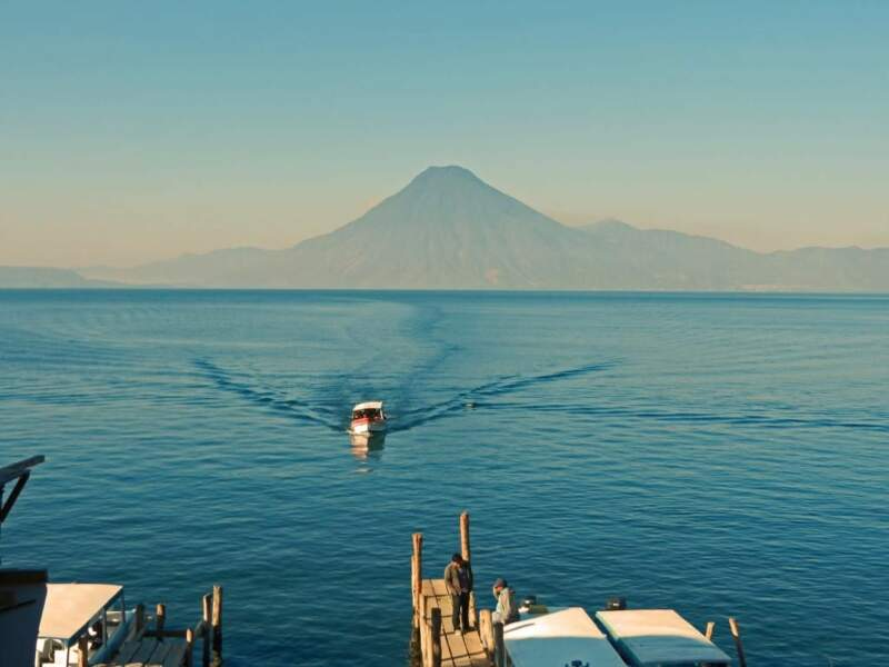 Photo prise au lac Atitlán (Guatemala) par le GEOnaute : gilios