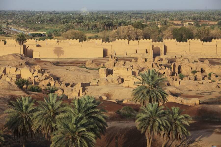 La cité antique de Babylone, en Irak