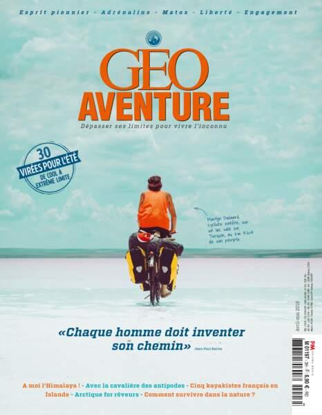 """""""À moi l'Himalaya"""", le récit d'Eliott Schonfeld à découvrir dans magazine GEO Aventure (avril 2018)"""