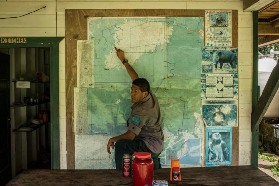 Le camp du Tapir, base des rangers au cœur de la réserve forestière de Chiquibul
