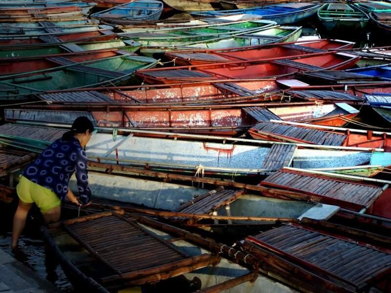 Bateaux dans le nord du Vietnam