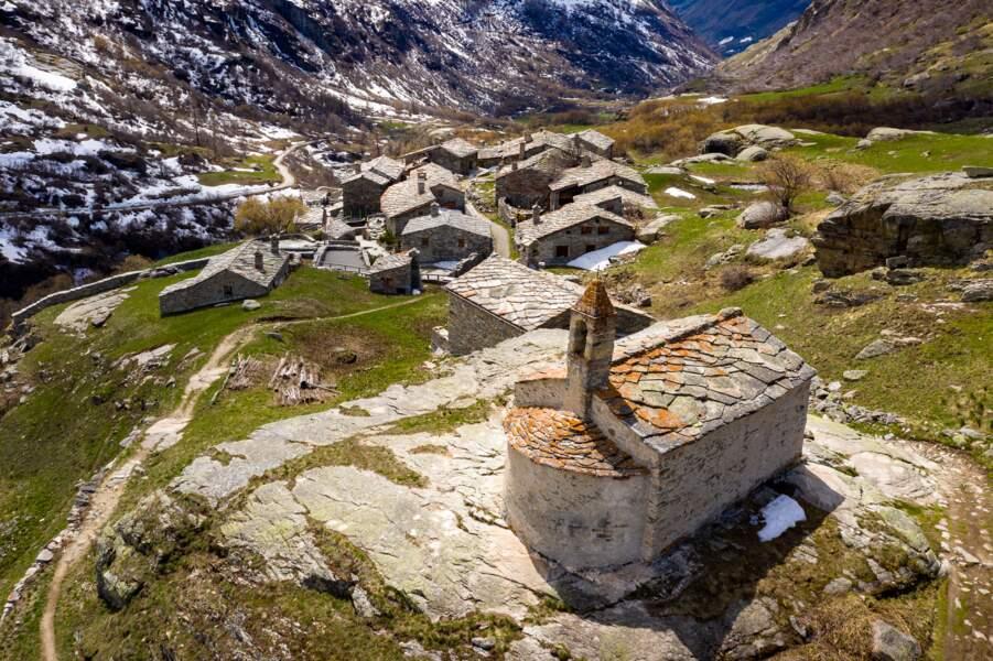 Hameau de l'Ecot, commune de Bonneval-sur-Arc, Haute Maurienne, Savoie