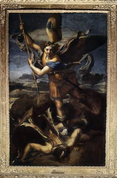 Saint Michel terrassant le dragon, Raphaël (1518)