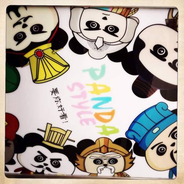 Le panda décliné en papèterie