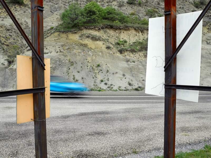 Route D901 au niveau du Puech