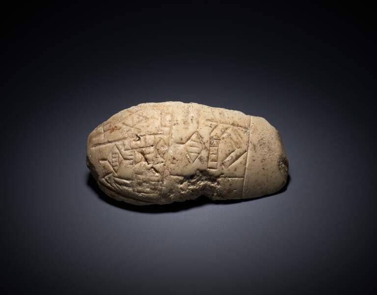 Témoin de la plus ancienne forme d'écriture