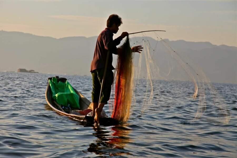 Photo prise au lac Inle (Birmanie) par le GEOnaute : leroy
