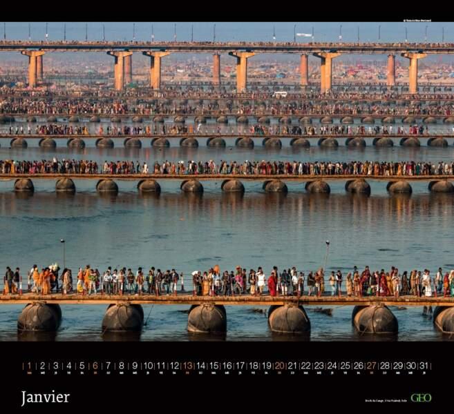 Bords du Gange, Allahabad, Uttar Pradesh – Inde