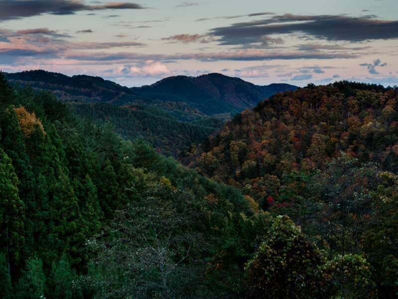 La zone interdite s'étend dans les montagnes des Ryozen