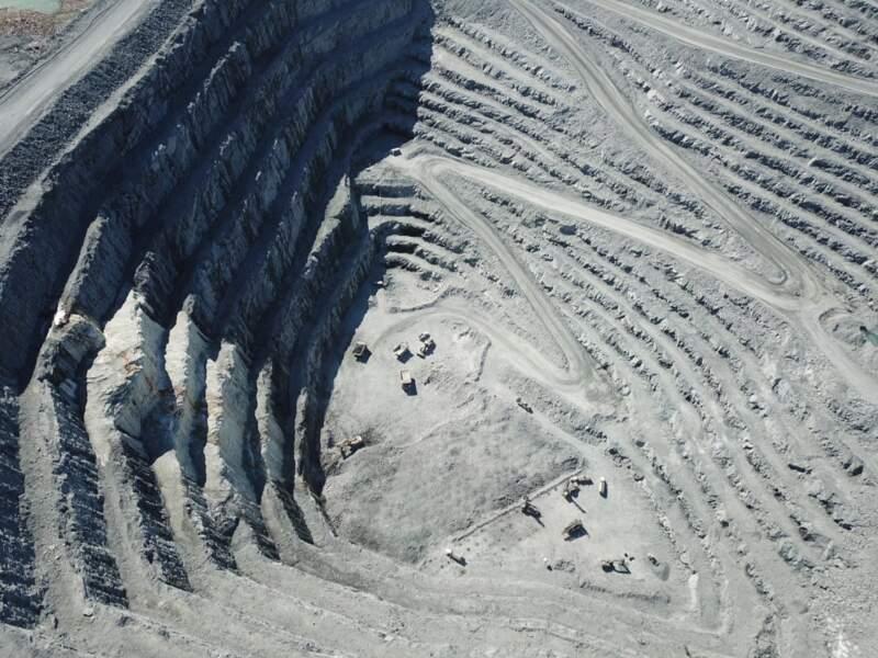 Mine d'or à ciel ouvert
