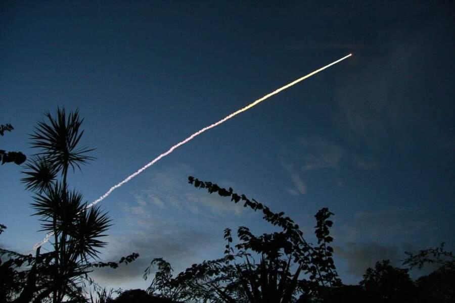 Fusée Ariane V, lancée à Kourou