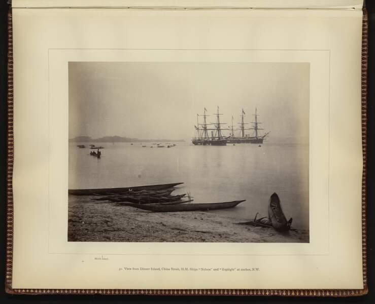 Vue depuis Dinner Island, Augustine Dyer (Papouasie-Nouvelle-Guinée, 1884)