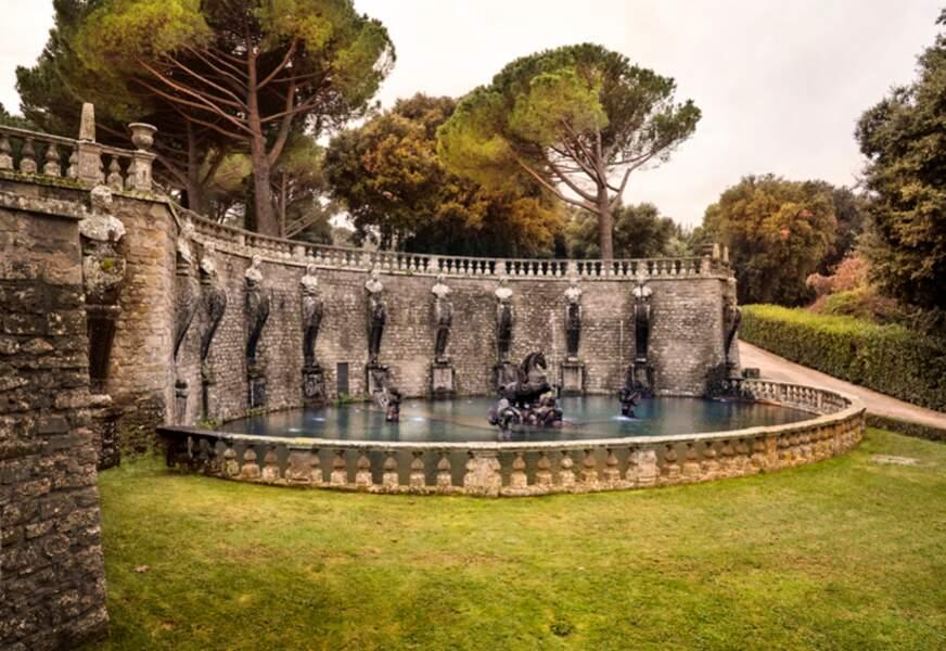 Fontaine de Pégase, dans la villa Lante, près de Viterbe