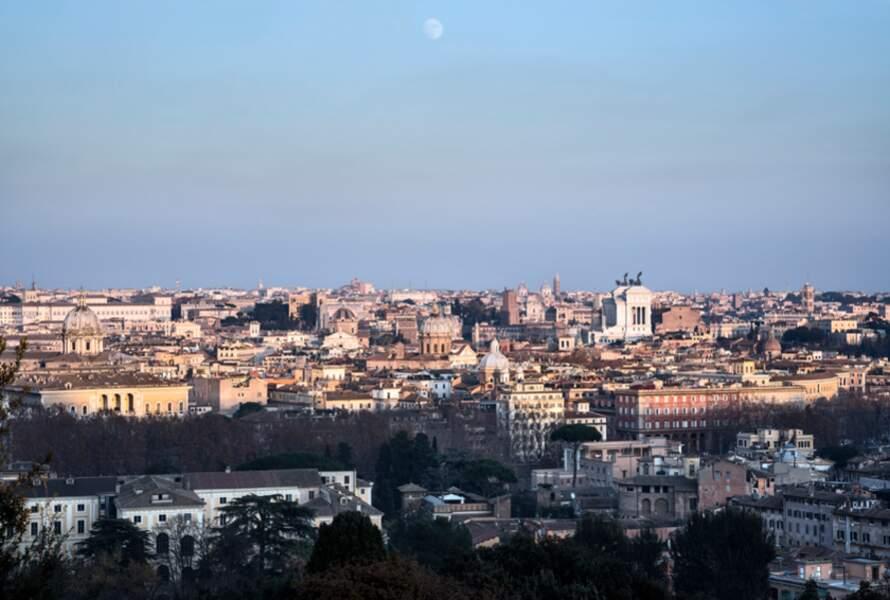 Vue sur Rome depuis la colline du Janicule