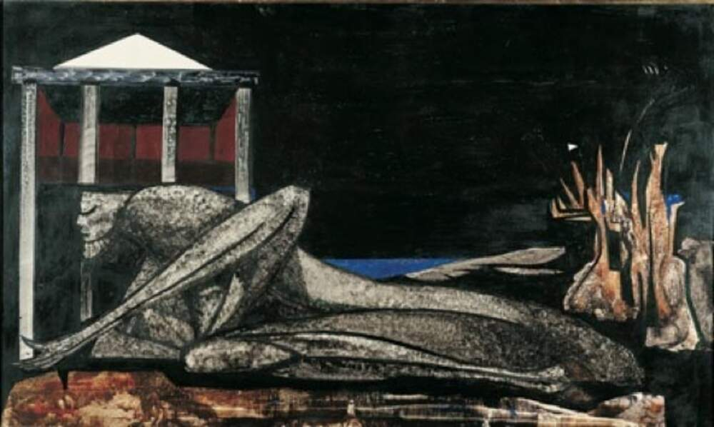 L'Atlantide, vers 1950, Oscar Dominguez