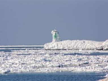 Etats-Unis : le Lac Michigan à l'heure du dégel
