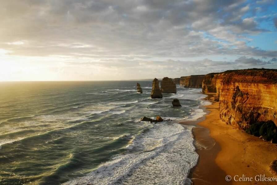 Photo prise sur le site de Twelve Apostles (Australie), par Celine Glikson