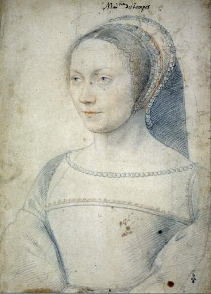 Anne de Pisseleu, Jean Clouet (vers 1530)
