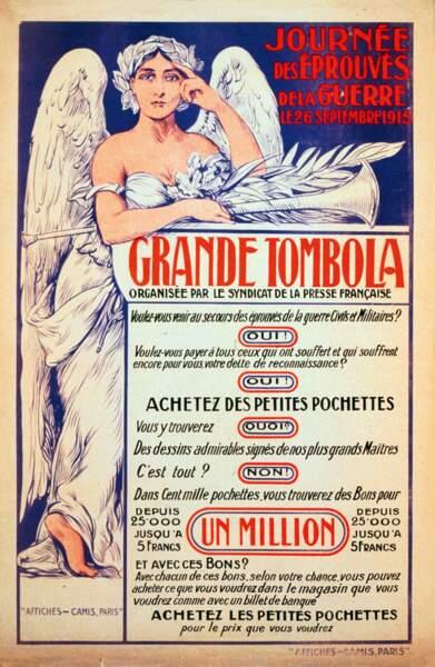 « Journée des éprouvés de la guerre. » Artiste inconnu. 1915, France