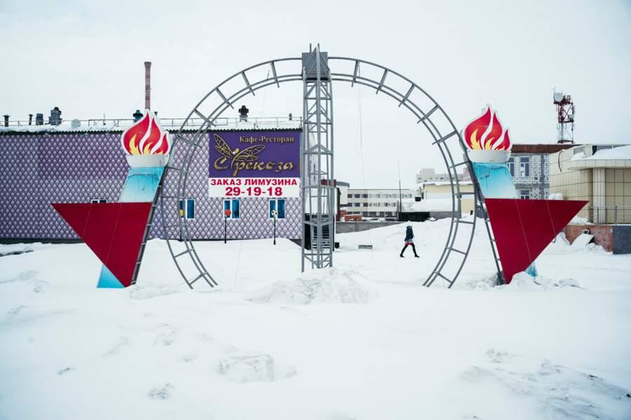 Dans le centre de Novy Urengoy