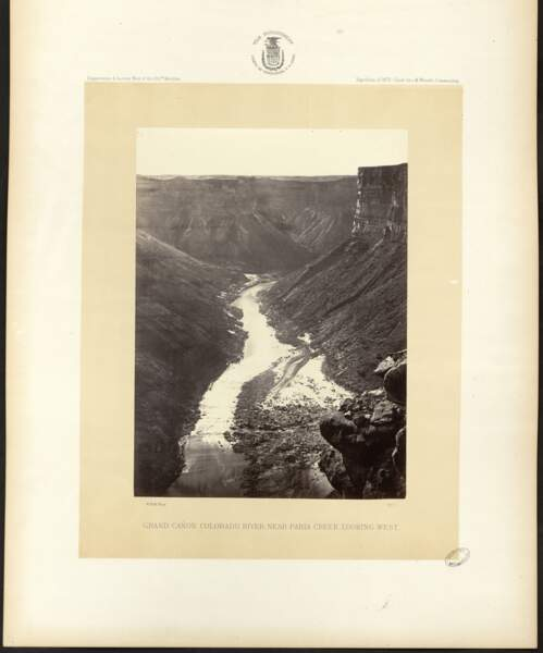 Fleuve Colorado, près de Paria Creek, William Bell (Arizona, États-Unis. 1872)