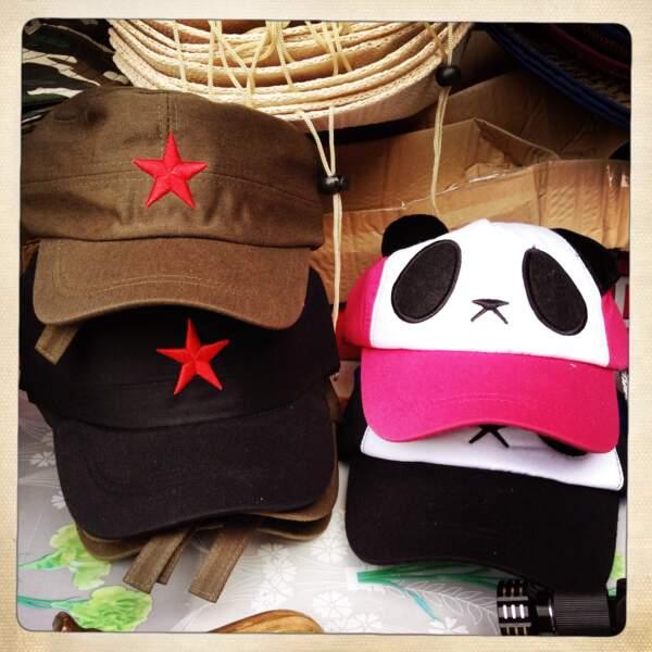 Casquettes panda