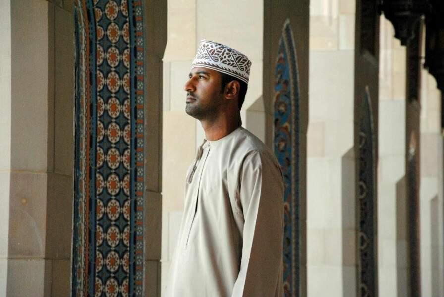 Photo prise dans la grande mosquée de Mascat (Oman) par le GEOnaute : Jessicadepablos
