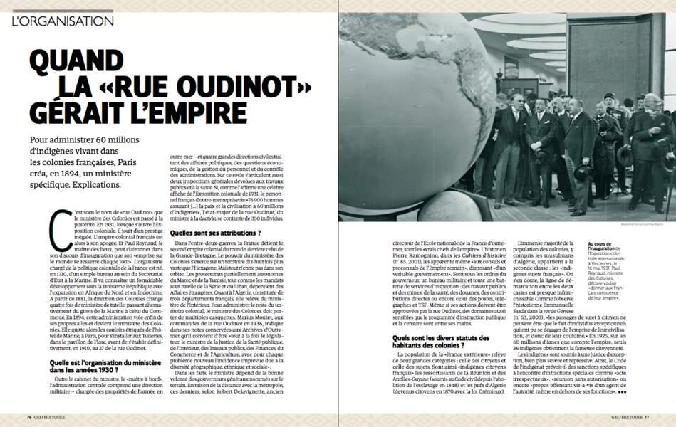 Quand la «rue Oudinot»gérait l'empire