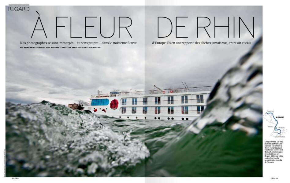 Portrait du Rhin depuis ses eaux