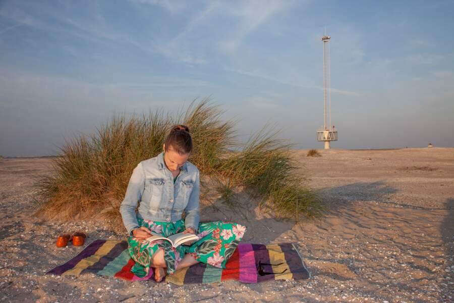 Sur la plage abandonnée…