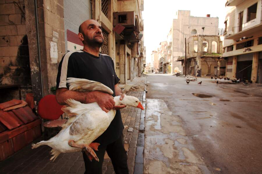 Le quartier de Al-Khalidiya, à Homs, a été sévèrement endommagé