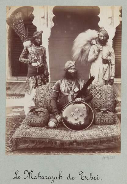 Portrait de Sir Pratab Singh, Lala Deen Dayal (Inde, 1882)