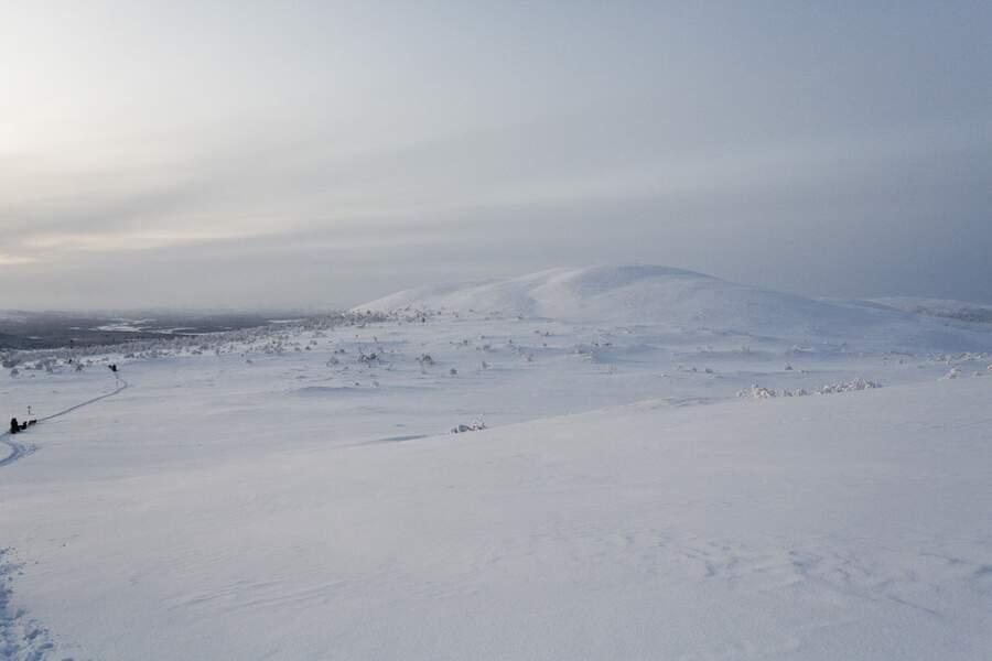 Immenses et entièrement désertes, les étendues blanches sont plongées dans le silence de l'hiver