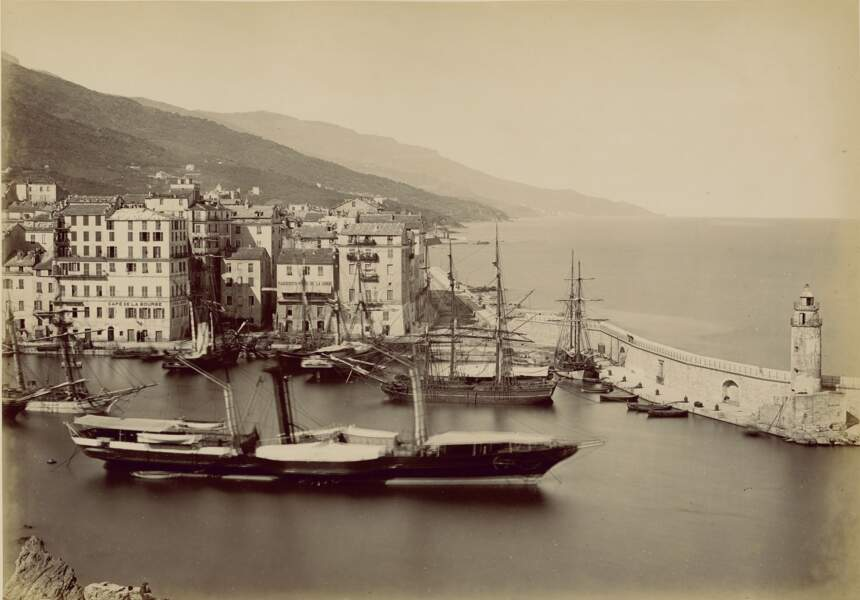 Le port de Bastia, 1865