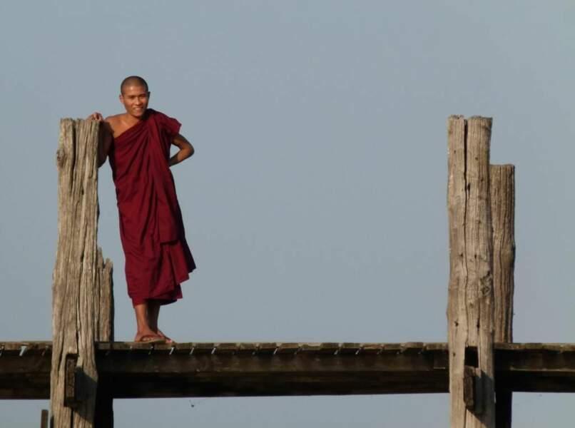 Photo prise au pont d'U Bein (Birmanie) par le GEOnaute : raphael33
