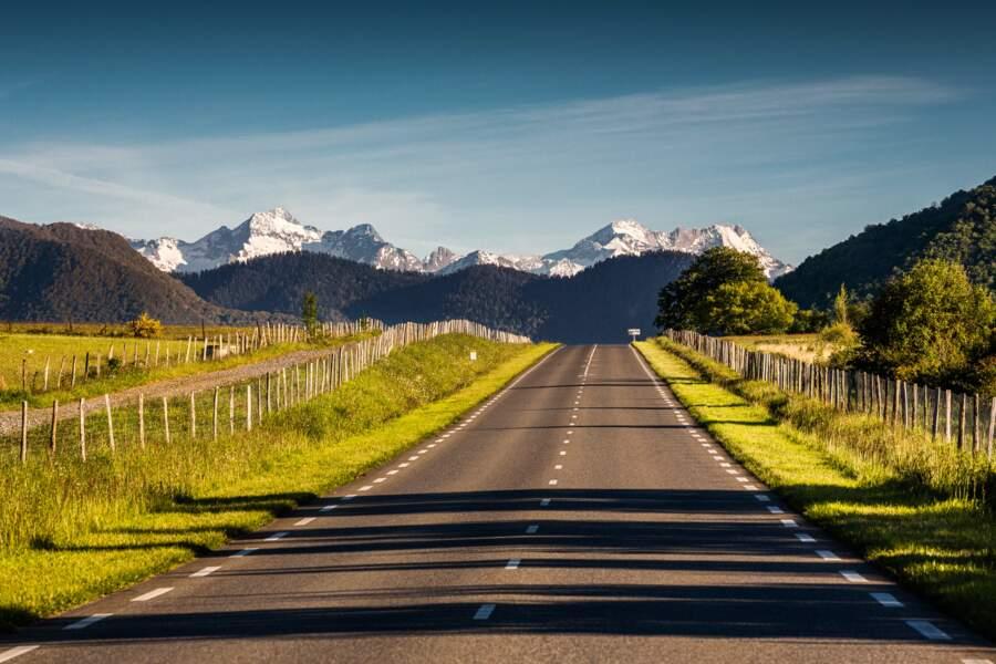 Vue sur les Pyrénées depuis la route d'Arreau