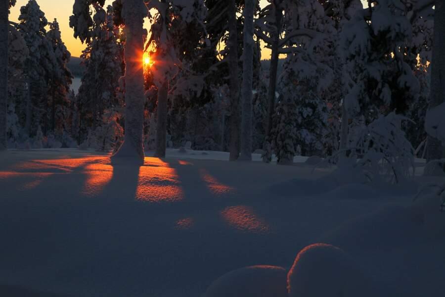Paysage de neige en Finlande, par Eric Roustand / Communauté GEO
