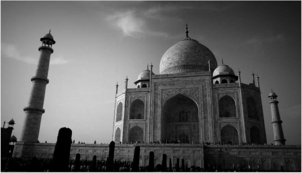 Photo prise au Taj Mahal (Inde) par le GEOnaute : voyaj'heur33000