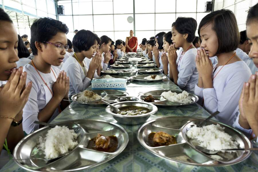 A l'école Ngwe Nant Thar de Ma Ba Tha