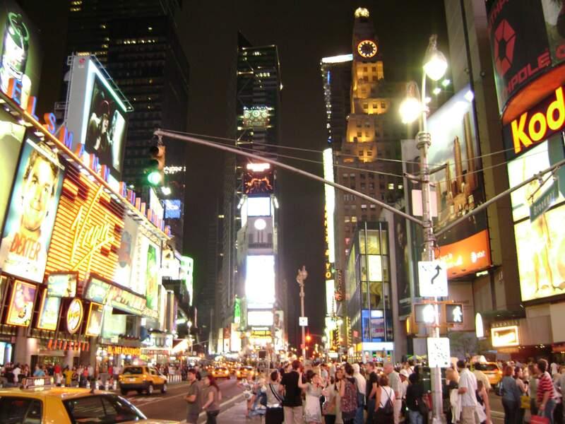 Vivre le tourbillon de Times Square