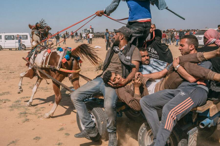 Affrontements sur la bande de Gaza