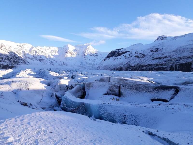Parc national islandais du Vatnajökull où cohabitent feu et glace