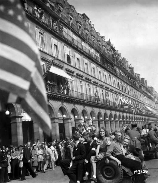 Libération de Paris, rue de Rivoli, 25 août 1945