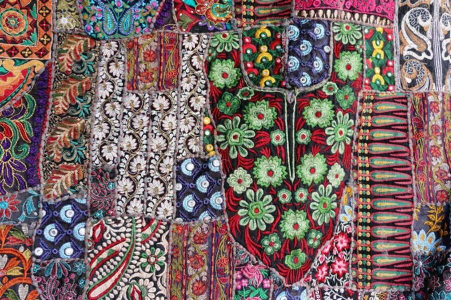 Patchwork traditionnel du Rajasthan, en Inde