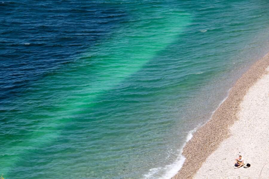 La plage d'Étretat