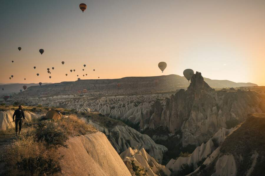 L'aube sur la Cappadoce