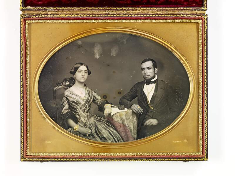 Portrait de couple, Benjamin Franklin Pease (Lima, 1852 - 1856)