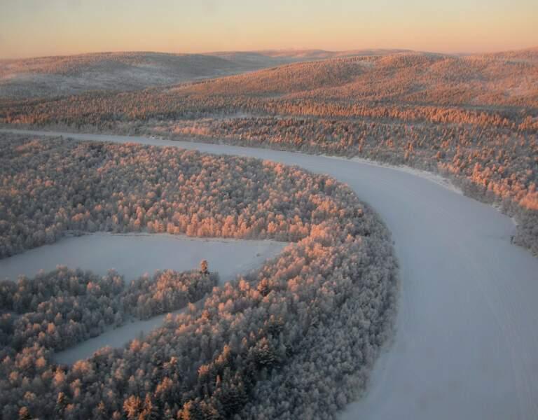Rivière Ivalo en Finlande, par Denise Chéry / Communauté GEO